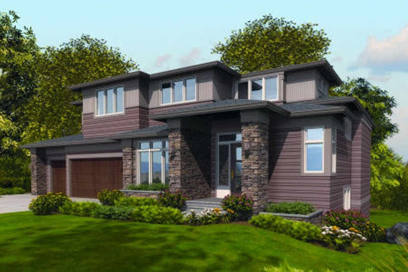 Contemporary Exterior - Front Elevation Plan #48-254