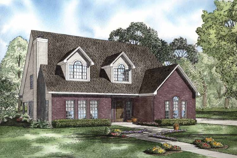 Colonial Exterior - Front Elevation Plan #17-2764