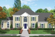 Architectural House Design - Classical Exterior - Front Elevation Plan #1053-62