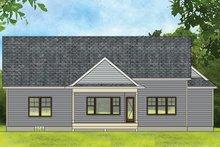 Ranch Exterior - Rear Elevation Plan #1010-184