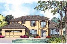 House Plan Design - Mediterranean Exterior - Front Elevation Plan #1015-4