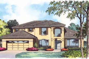 Mediterranean Exterior - Front Elevation Plan #1015-4