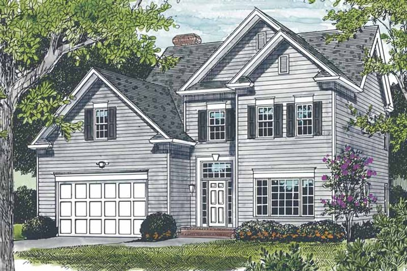 Dream House Plan - Traditional Exterior - Front Elevation Plan #453-499
