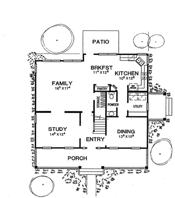 Home Plan - Classical Floor Plan - Main Floor Plan #472-160
