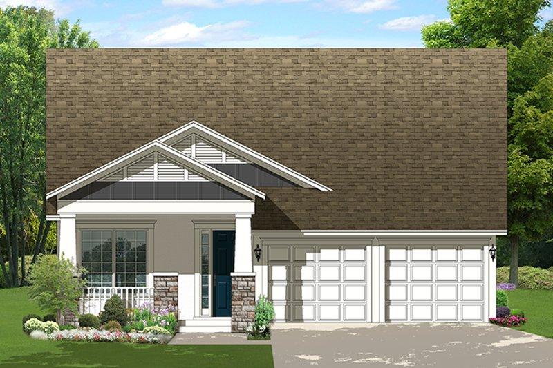 Craftsman Exterior - Front Elevation Plan #1058-136 - Houseplans.com