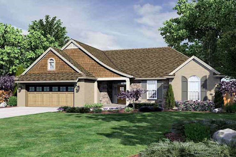 Traditional Exterior - Front Elevation Plan #46-484 - Houseplans.com