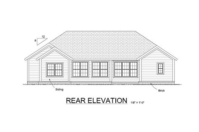 Traditional Exterior - Rear Elevation Plan #513-20 - Houseplans.com