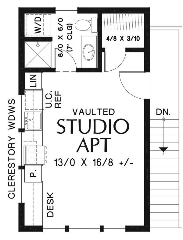 Modern Floor Plan - Upper Floor Plan #48-934