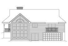 Home Plan Design - Country Exterior - Rear Elevation Plan #57-188