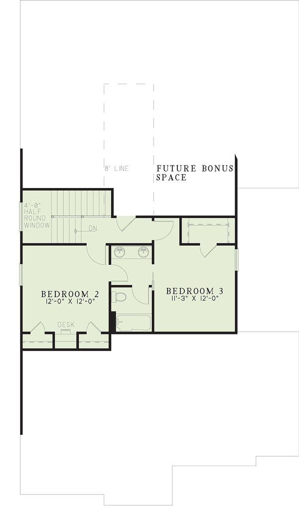 House Plan Design - Traditional Floor Plan - Upper Floor Plan #17-2003