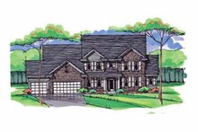 Colonial Exterior - Front Elevation Plan #51-1023
