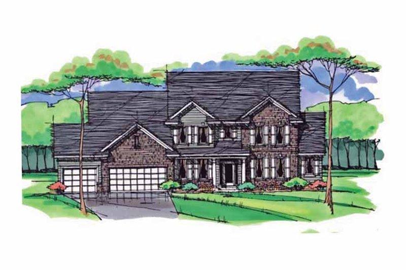 Colonial Exterior - Front Elevation Plan #51-1023 - Houseplans.com