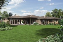 Dream House Plan - Contemporary Exterior - Rear Elevation Plan #48-916