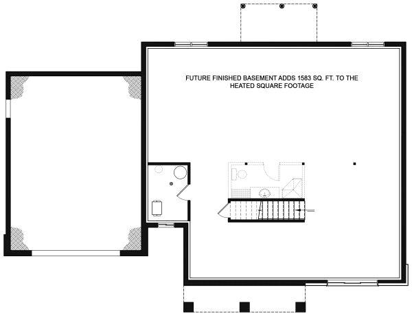Home Plan - Optional Basement