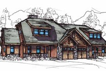 Craftsman Exterior - Front Elevation Plan #17-2911