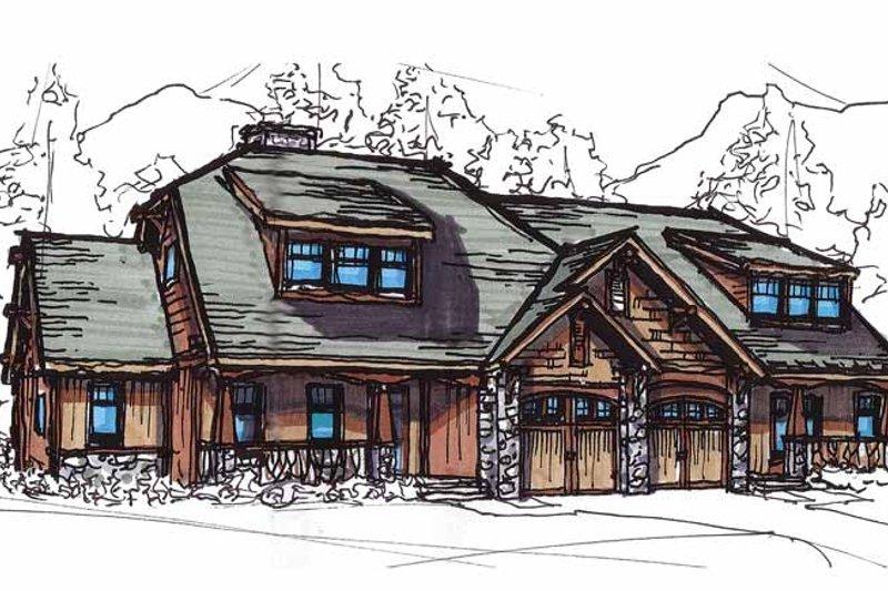 Craftsman Exterior - Front Elevation Plan #17-2911 - Houseplans.com