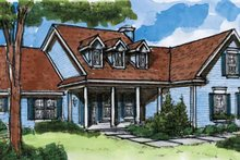 Country Exterior - Front Elevation Plan #320-925