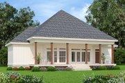 Farmhouse Style House Plan - 4 Beds 2 Baths 1608 Sq/Ft Plan #45-597 Exterior - Rear Elevation