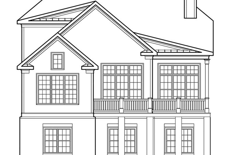 Traditional Exterior - Rear Elevation Plan #927-656 - Houseplans.com