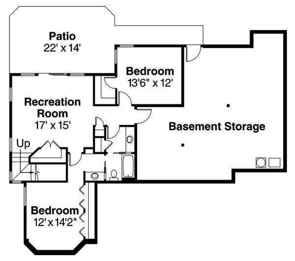 Traditional Floor Plan - Lower Floor Plan Plan #124-620