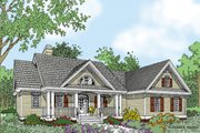 Ranch Style House Plan - 3 Beds 2.5 Baths 1970 Sq/Ft Plan #929-938 Exterior - Front Elevation