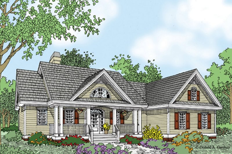 Ranch Exterior - Front Elevation Plan #929-938 - Houseplans.com