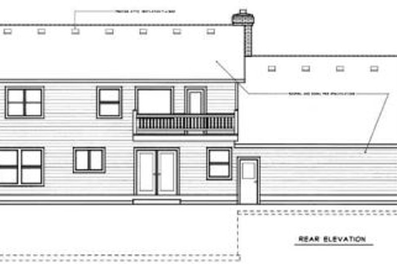 Country Exterior - Rear Elevation Plan #87-203 - Houseplans.com