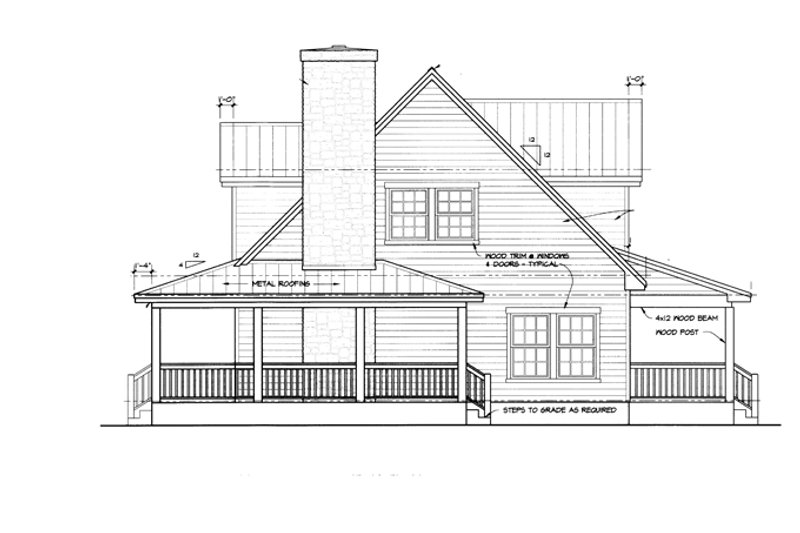 Country Exterior - Other Elevation Plan #140-183 - Houseplans.com