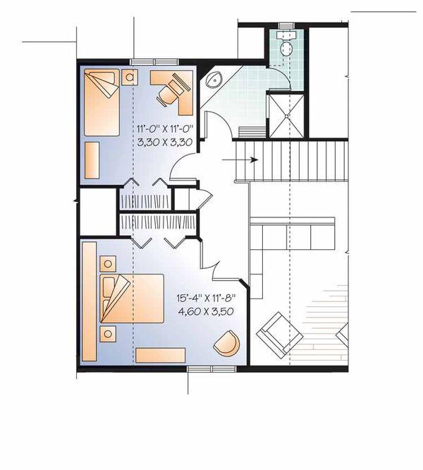 European Floor Plan - Upper Floor Plan Plan #23-2511