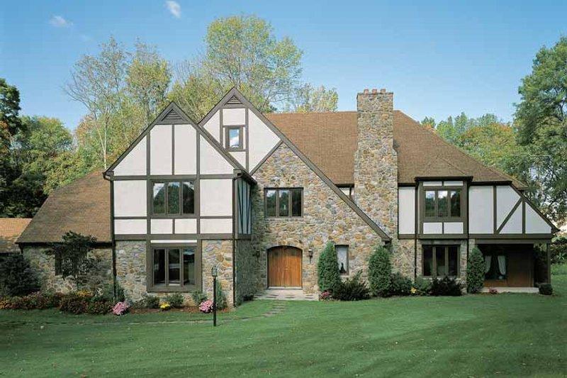 Tudor Exterior - Front Elevation Plan #72-619 - Houseplans.com