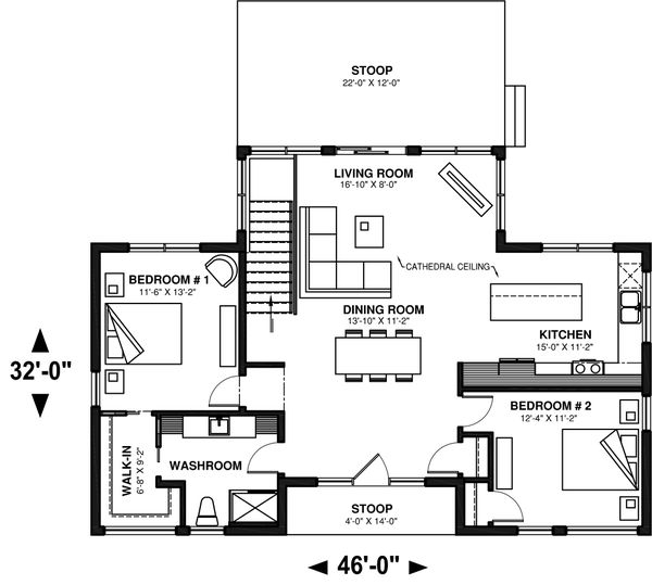 Modern Floor Plan - Main Floor Plan #23-2747