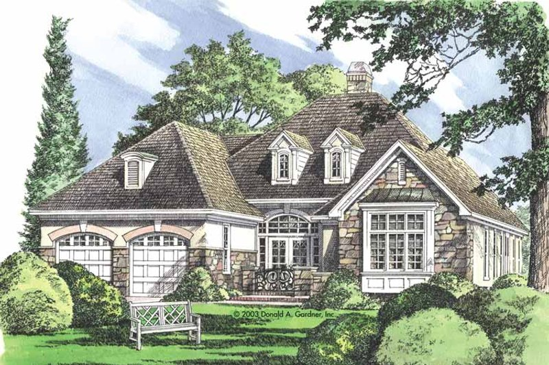 Country Exterior - Front Elevation Plan #929-694 - Houseplans.com