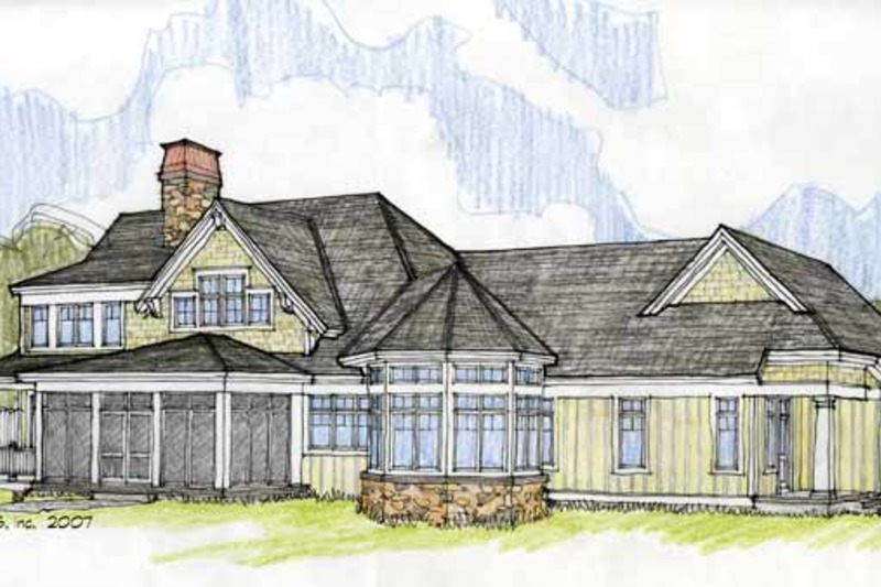 Craftsman Exterior - Rear Elevation Plan #928-184