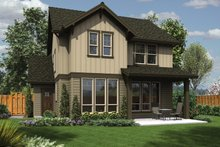 Architectural House Design - Craftsman Exterior - Rear Elevation Plan #48-906