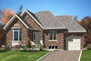 Traditional Style House Plan - 2 Beds 1.5 Baths 1024 Sq/Ft Plan #138-313 Exterior - Front Elevation