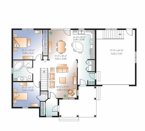 Country Floor Plan - Main Floor Plan Plan #23-2518