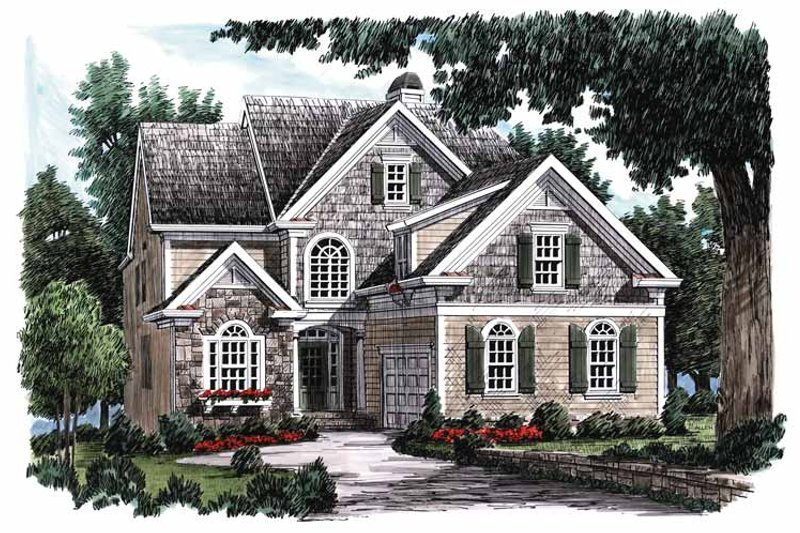 Country Exterior - Front Elevation Plan #927-648