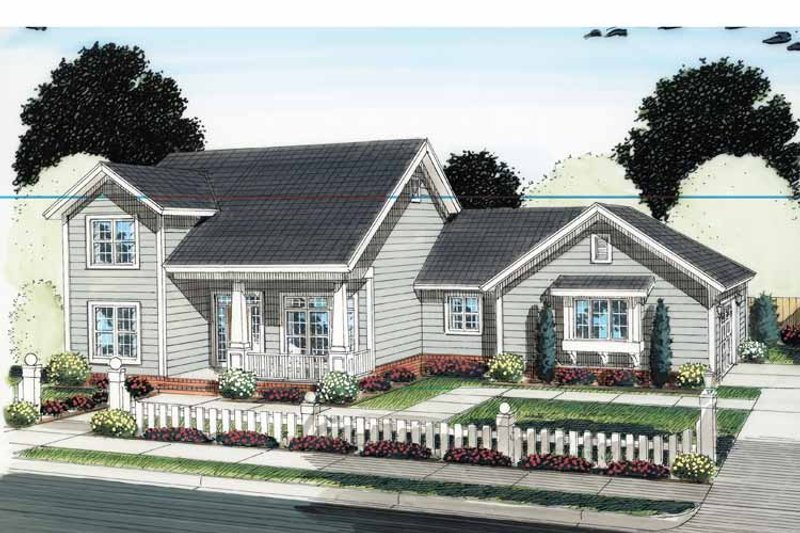 Architectural House Design - Traditional Exterior - Front Elevation Plan #513-2127