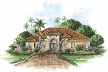 Architectural House Design - Mediterranean Exterior - Front Elevation Plan #1017-86