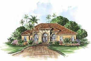 House Plan Design - Mediterranean Exterior - Front Elevation Plan #1017-86