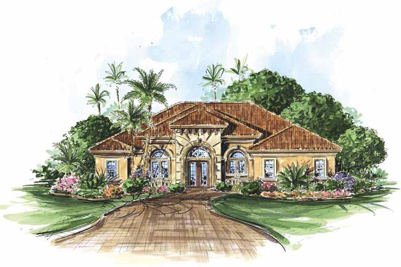 Dream House Plan - Mediterranean Exterior - Front Elevation Plan #1017-86