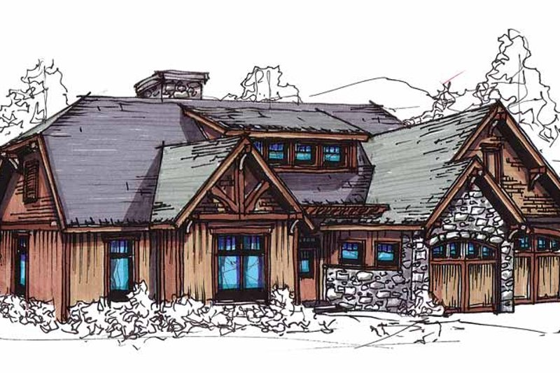 Craftsman Exterior - Front Elevation Plan #17-2814