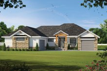 Dream House Plan - Craftsman Exterior - Front Elevation Plan #20-2367