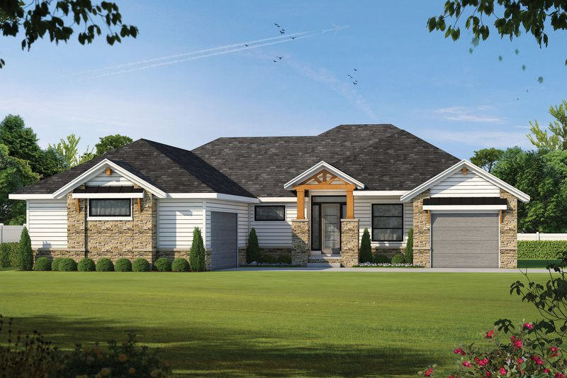 Craftsman Exterior - Front Elevation Plan #20-2367