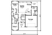Craftsman Style House Plan - 4 Beds 4 Baths 2794 Sq/Ft Plan #20-2281 Floor Plan - Main Floor Plan