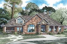 Home Plan - Country Exterior - Front Elevation Plan #17-2972