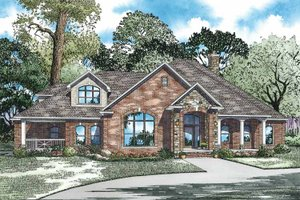 Country Exterior - Front Elevation Plan #17-2972