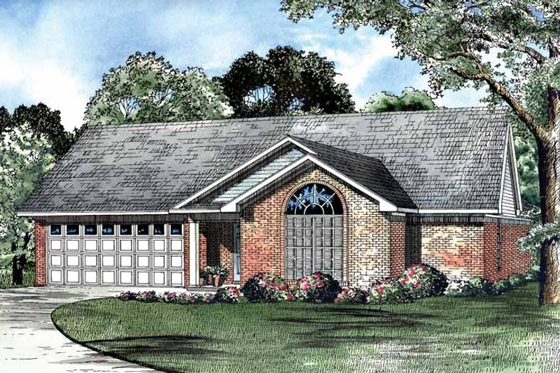 Ranch Exterior - Front Elevation Plan #17-3061