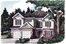 Architectural House Design - Colonial Exterior - Front Elevation Plan #927-630