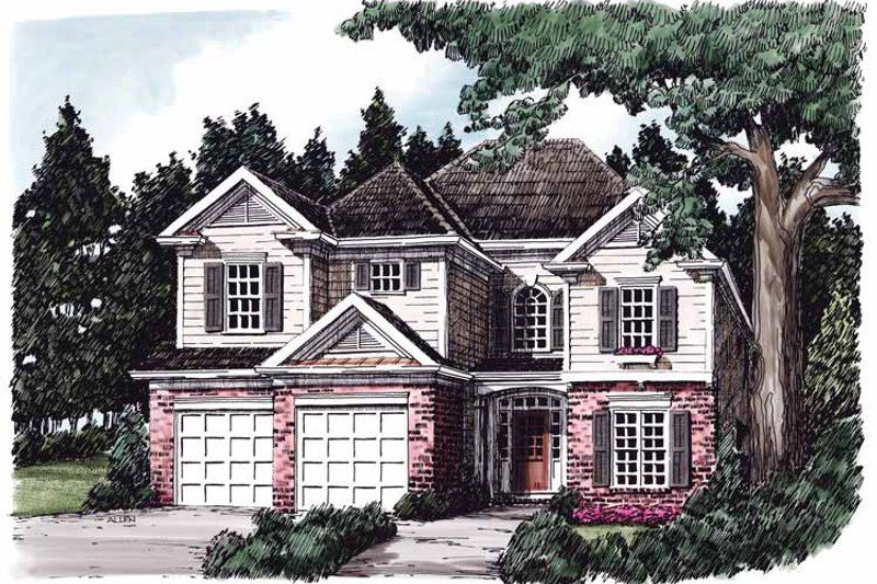 Colonial Exterior - Front Elevation Plan #927-630